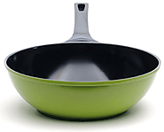 12-Inch Green Earth Wok by Ozeri, with Smooth Ceramic Non-Stick Coating
