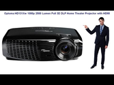 Optoma HD131Xw 1080p 2500 Lumen Full 3D DLP Home Theater Projector with HDMI