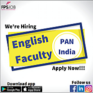 English teacher Faculty Opening Jobs In india