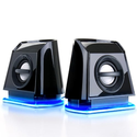 GOgroove BassPULSE 2MX USB Powered 2.0 Channel Computer Speakers- Works with Toshiba , HP , Asus , Acer , Dell , Sony...