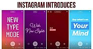 Instagram Introduces Type Mode for Text-Based Stories | eAskme | How to : Ask Me Anything : Learn Blogging Online