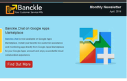 Banckle Newsletter for April 2014 is out: Install Live Chat App from Google Apps Marketplace
