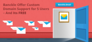 MS Outlook Alternative – Offer 5 Free Custom Domain Support by Banckle Email