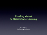 Video Creation In The Classroom