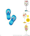 Fun and Cute Flip Flop Wine Glasses