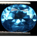 3.14 ct Natural Swiss blue Topaz oval cut loose gemstone for sale
