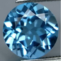2.43 ct Natural Swiss blue Topaz round cut loose gemstone for sale