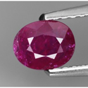 0.56 ct Natural untreated red Ruby loose gemstone for sale oval faceted cut