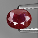 0.47 ct Natural untreated red Ruby loose gemstone for sale oval faceted cut