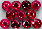 0.50 ct natural red ruby gemstone round brilliant cut