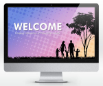 Free Widescreen Family Social PowerPoint Template (16:9) | SlideHunter.comSlideHunter.com