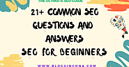 SEO for Beginners - 21+ Common Seo Questions and Answers {Ultimate SEO Guide} | Blogging QnA- Blogging Question Answers