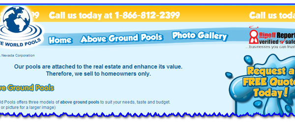 Headline for Above Ground Swimming Pool Reviews