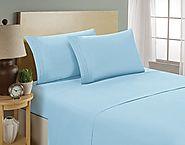 Luxurious Sheets Set 1800 3-Line Collection Brushed Microfiber Deep Pocket Super Soft and Comfortable Hotel Collectio...