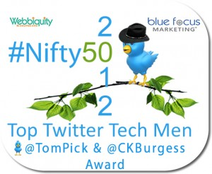 Headline for #Nifty50 Top Twitter Tech Men 2012