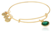 "Alex and Ani ""Bangle Bar"" Birthstone Expandable Wire in Bangle Bracelet"