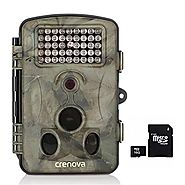 Crenova Game and Trail Camera 12MP 1080P HD With Time Lapse Scouting Camera Deer Camera (Camera+16GB Card)