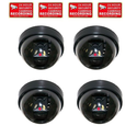 VideoSecu 4 Dummy Imitation Security Cameras with Flashing Light LED Cost-effective Surveillance CCTV Simulated Dome ...