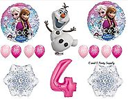 Frozen Pink 4th Disney Movie BIRTHDAY PARTY Balloons Decorations Supplies by Anagram by Anagram