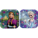 "Disney's Frozen Party 7"" Square Cake/Dessert Plates"