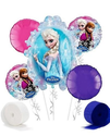 Disney Frozen Party Supplies Balloon Decoration Kit - Bouquet & Streamers 7pc Set