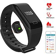 Fitness Tracker Watch Activity Tracker with Heart Rate Monitor, Pedometer, Calorie, Health Tracker with Blood Pressur...