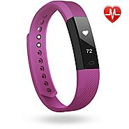 Fitness Tracker, Lintelek Heart Rate Smart Wristband, Sleep Monitor, Steps/ Calorie and Distance Counter Pedometer fo...