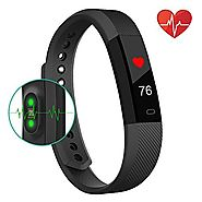 Fitness Tracker Watch With Heart Rate Monitor,Bonebit V1 Healthy Wristband Sports Pedometer Activity Tracker Steps Co...