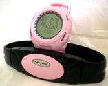 WCI Quality Women's Heart Rate Monitor Watch and Transmitter Chest Belt - Measures Distance, Speed, Steps, Calories a...