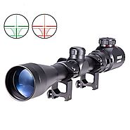 Pinty 3-9X40 Red Green Rangefinder Illuminated Optical Sniper Rifle Telescopic Scope