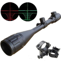 Cvlife Optics Hunting Rifle Scope 6-24x50 AOE Red & Green Illuminated Crosshair Gun Scopes With Free Mounts