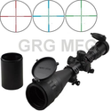 4-16x50mm Scope W front AO adjustment. Red/green Illumination mil-dot reticle. Comes with extended sunshade and Heavy...