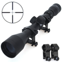 Tactical 3-9x40 optics R4 reticle crosshair air sniper hunting rifle scope with free mounts