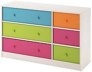 Cosco Kids Furniture Applegate Storage Chest with 6 Fabric Bins, Enchanted Pine