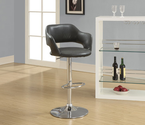 Metal Hydraulic Barstool Color: Charcoal Grey
