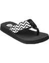 Black Yellow Box Flip Flops for Women