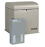 KOHLER Generators 8RESVL 100 Amp Standby Indoor Generator, 12-Space with Load Center Automatic Transfer Switch, 8000-...