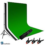 LimoStudio Photography Photo Video Studio Backdrop Background Kit, White Black Green Chromakey Backdrops, Backdrop Su...