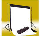 CowboyStudio Photo Muslin Background Support System with One Background Support Set with 1 carry case and Black & Whi...