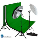 Limostudio Photo Video Studio Umbrella Light Lighting Kit 700W, 10 x 12 ft. Studio Green chromakey / Black / White Ph...