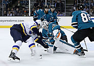 NHL Western Conference Finals: St. Louis Blues vs. San Jose Sharks - Home Game 3, Series Game 6 (If Necessary) - Offi...