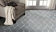 Custom Rugs Machine Made Twilight Trellis Twtrl Mercury-B Lt. Grey - Grey colors | Oriental Designer Rugs