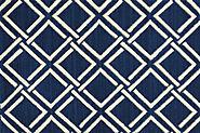 Custom Rugs Machine Made Mediterranean Sparta Sprta Nautl-B Medium Blue - Navy & Ivory - Beige colors | Oriental Desi...