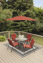Patio Furniture Set. Red 6 Piece Cushioned Outdoor Patio Furniture Dining Set. This Lovely Garden Furniture Would Loo...
