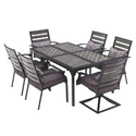 Patio Furniture Sets. This Durable Faux Wooden Patio Furniture Sets The Bar On Comfort. This Patio Furniture Dining S...