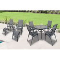 Patio Furniture Sets. This 10 Piece Sling Patio Furniture Sets A Backyard Escape. This Patio Furniture Dining Set Com...