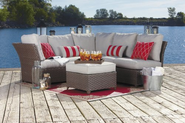 Patio Furniture Sets. 3 Piece Patio Furniture Sectional.This Patio Furniture Sectional Sofa Set Comes With A 3 Seat P...
