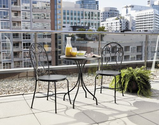 Patio Furniture Sets. This Durable Steel-Framed Patio Bistro Set Is Perfect For Small Places Or On A Balcony. This Pa...