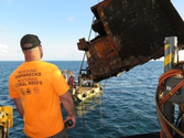 Commercial Divers Help Remove Shipwrecks from Protected Coral Reef