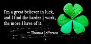 Wed Quote of the Day (LUCK)